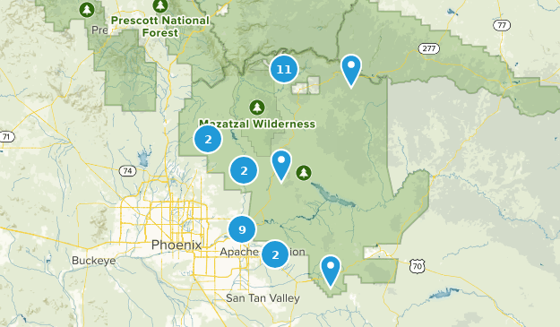 Tonto National Forest Mountain Biking Map