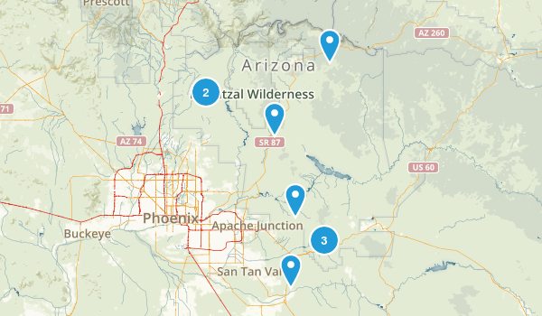 Map Of Us 60 Az view east along route 60 phoenix forestdale