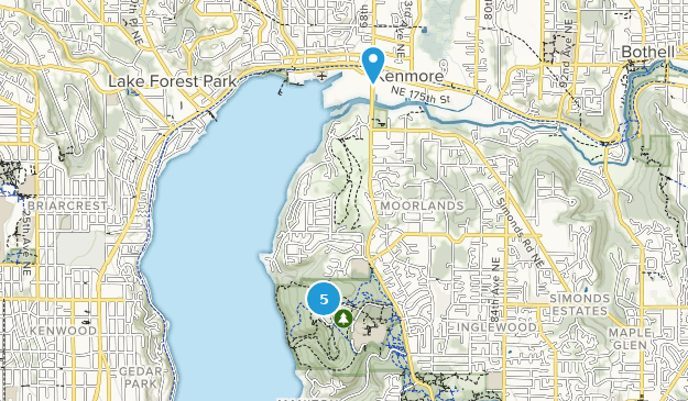St Edward State Park Nature Trips Map