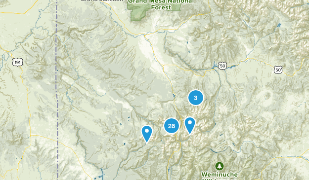 Uncompahgre National Forest Wildlife Map