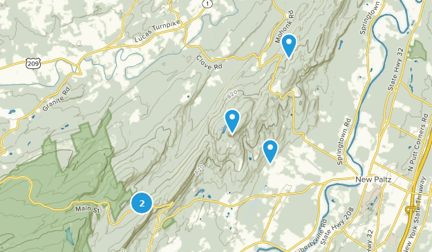 Mohonk Preserve Cross Country Skiing Map