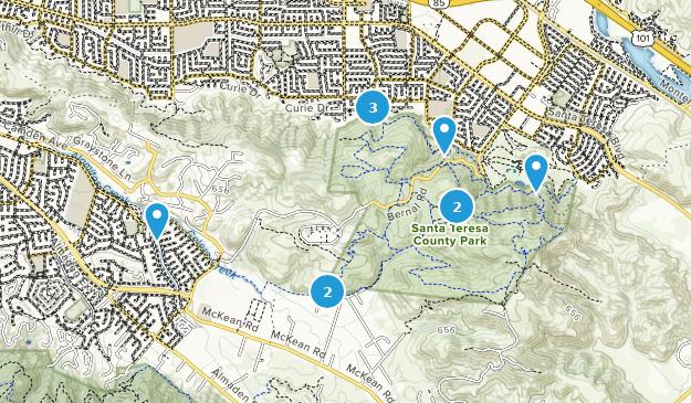 Santa Teresa California Map.Best Trail Running Trails In Santa Teresa County Park Alltrails