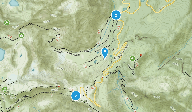 Mt Baker Ski Area Hiking Map
