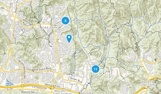 Cheeseboro/Palo Comado Canyons Nature Trips Map