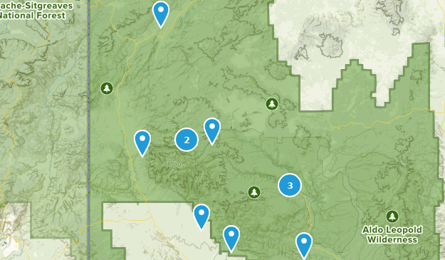 Gila National Forest Camping Map