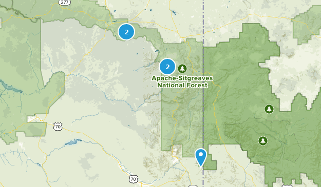 Forêt nationale Apache Sitgreaves Mountain Biking Map