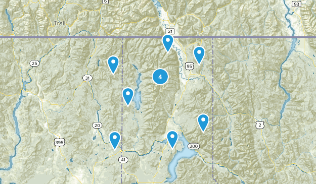 Kaniksu National Forest Nature Trips Map