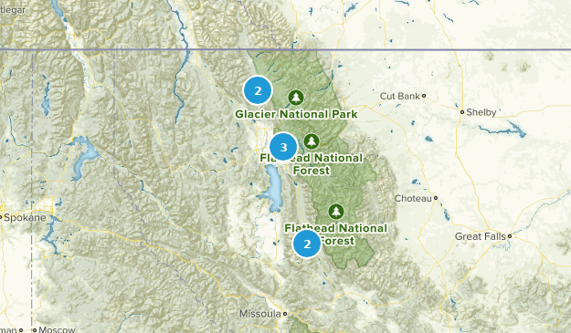 Flathead National Forest Backpacking Map