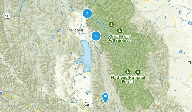Flathead National Forest River Map