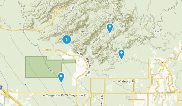 Tortolita Mountain Park Dog Friendly Map