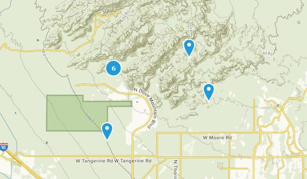 Tortolita Mountain Park Hiking Map