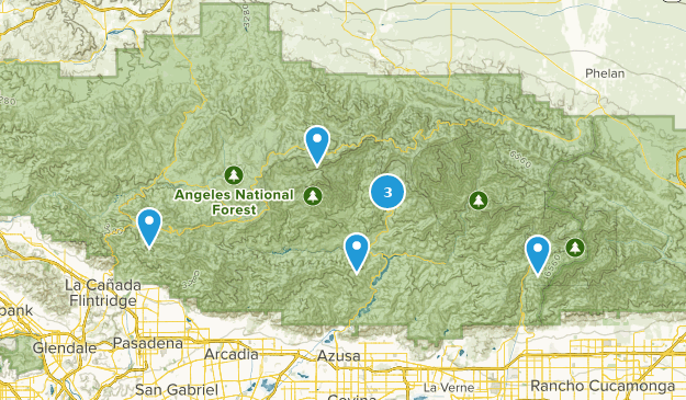 San Gabriel Wilderness Backpacking Map