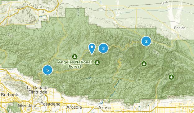 San Gabriel Wilderness Dogs On Leash Map