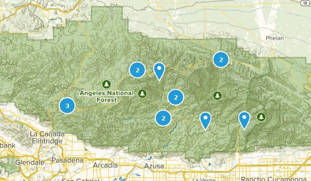 San Gabriel Wilderness Forest Map