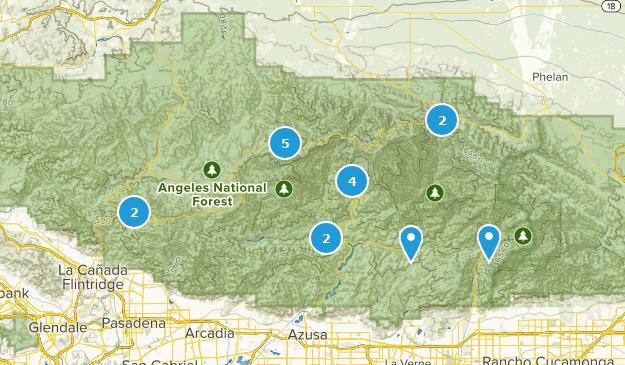 San Gabriel Wilderness Hiking Map
