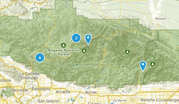 San Gabriel Wilderness Trail Running Map