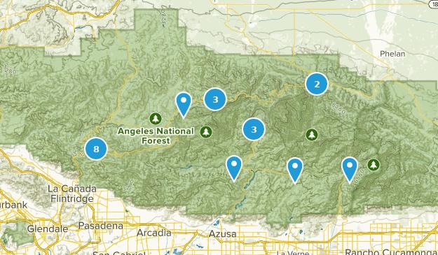 San Gabriel Wilderness Views Map