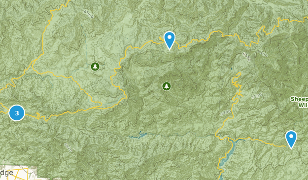 San Gabriel Wilderness Waterfall Map