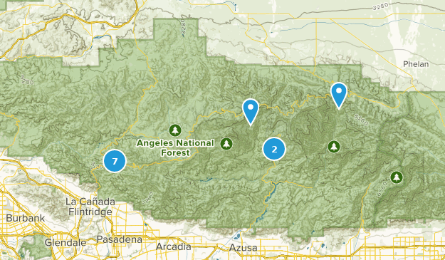 San Gabriel Wilderness Wild Flowers Map