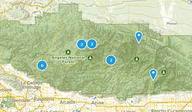 San Gabriel Wilderness Wildlife Map