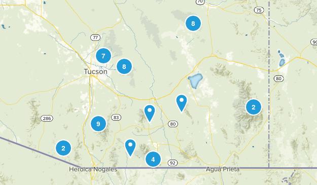 Coronado National Forest Birding Map