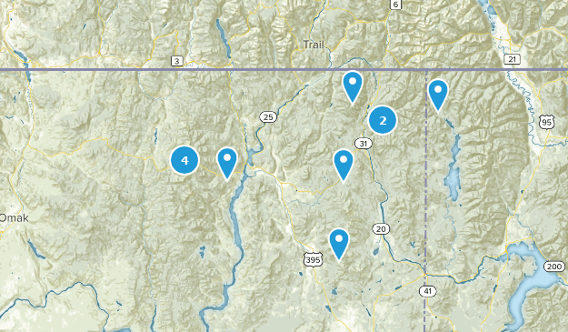 Colville National Forest Nature Trips Map