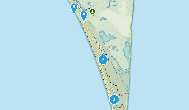 Point Pelee National Park Nature Trips Map