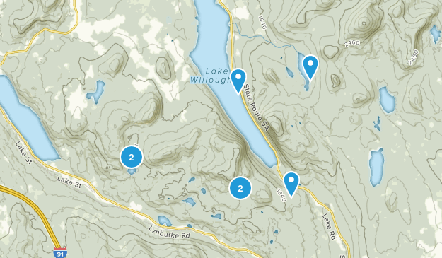 Willoughby State Forest Hiking Map