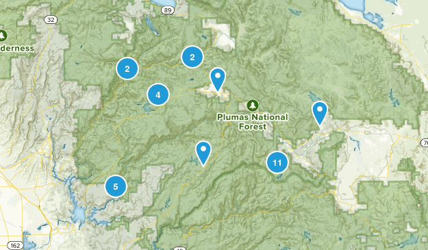 Plumas National Forest Hiking Map