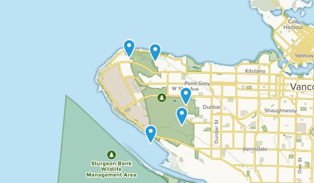 Pacific Spirit Regional Park Nature Trips Map