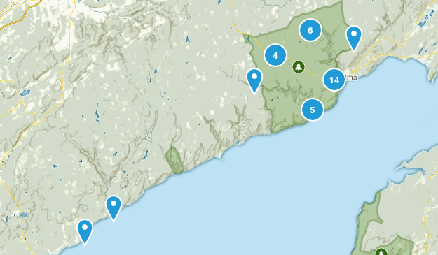 Fundy National Park Hiking Map