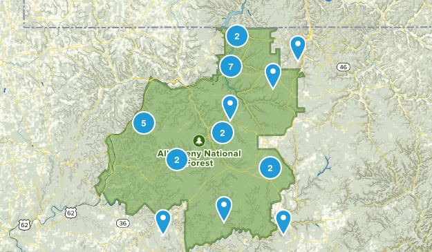 Allegheny National Forest Birding Map