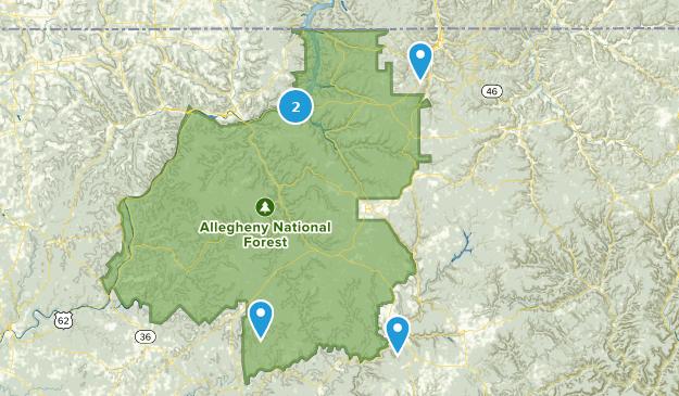 Forêt nationale d'Allegheny Mountain Biking Map