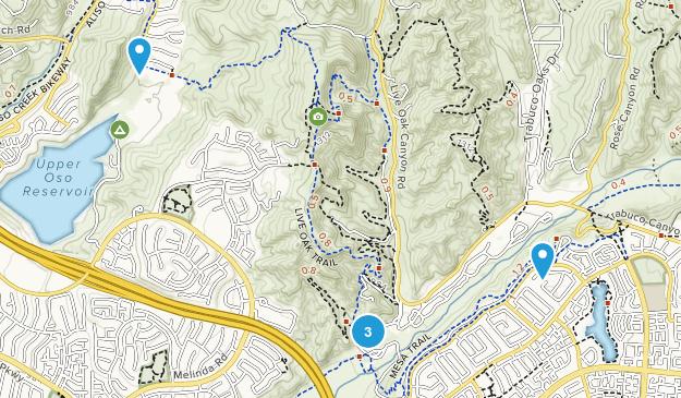 O Neil Regional Park Hiking Map