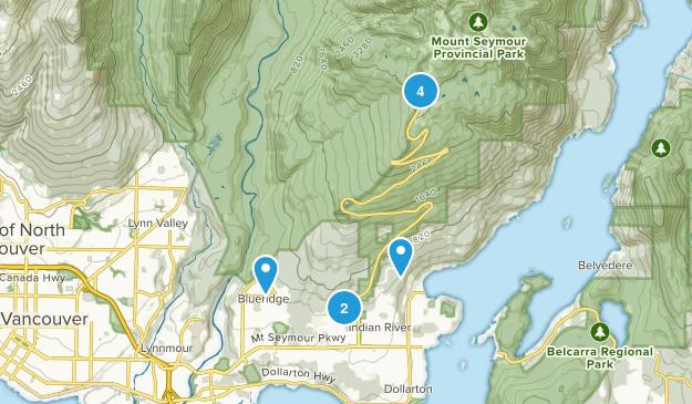 Mount Seymour Provincial Park Nature Trips Map