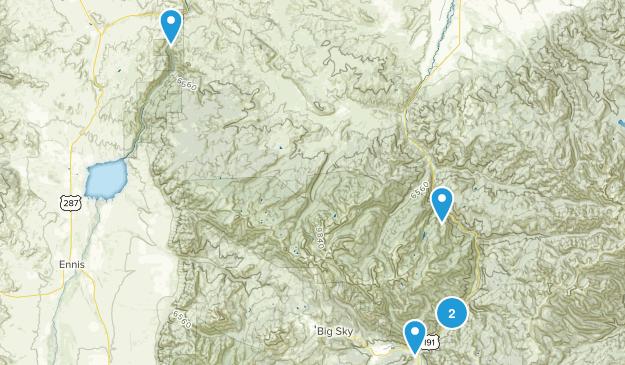 Lee Metcalf Wilderness Hiking Map