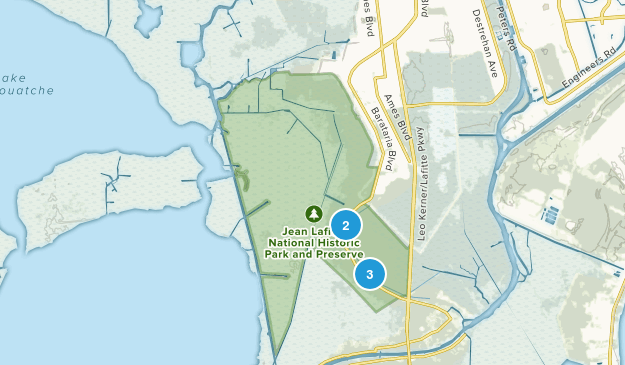 Jean Lafitte National Historical Park and Preserve Hiking Map