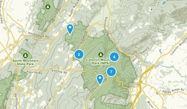 Catoctin Mountain Park Hiking Map