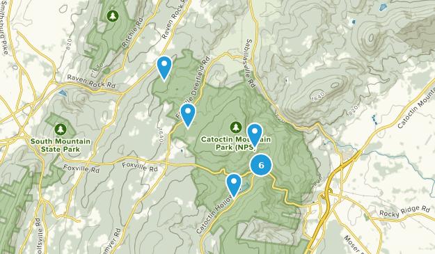 Catoctin Mountain Park Nature Trips Map