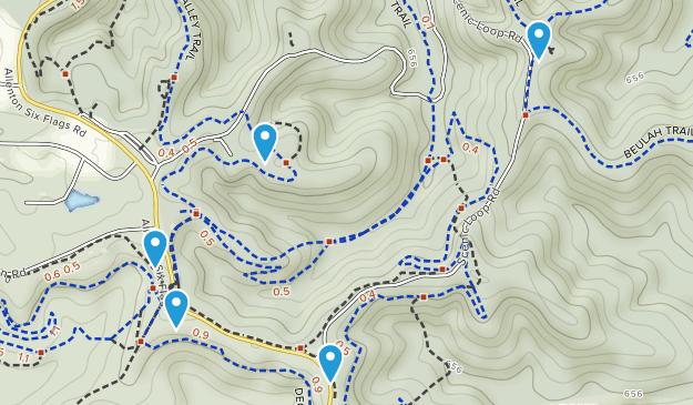 Greensfelder County Park Mountain Biking Map
