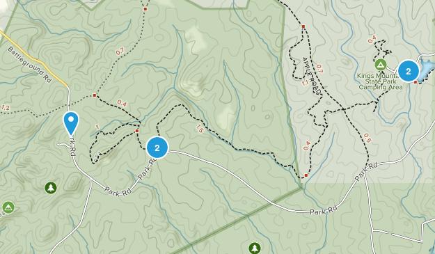 Kings Mountain National Military Park Hiking Map