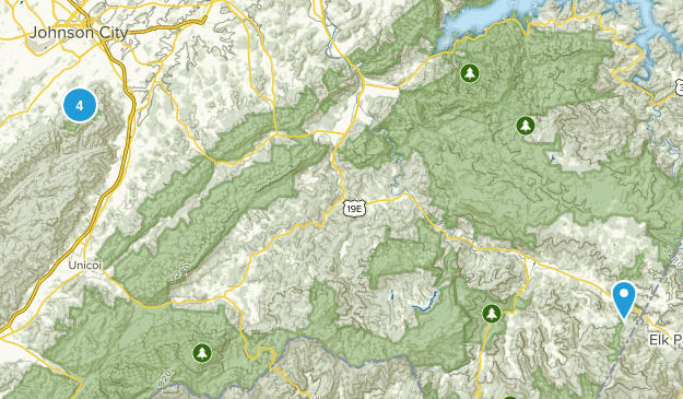 Buffalo Mountain Park Views Map
