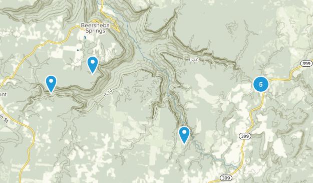 Savage Gulf State Natural Area Hiking Map
