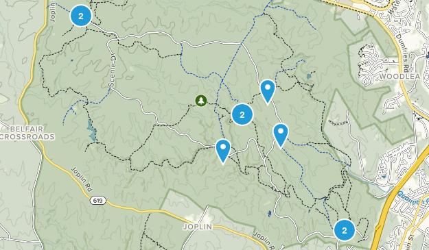 Prince William Forest Park Birding Map