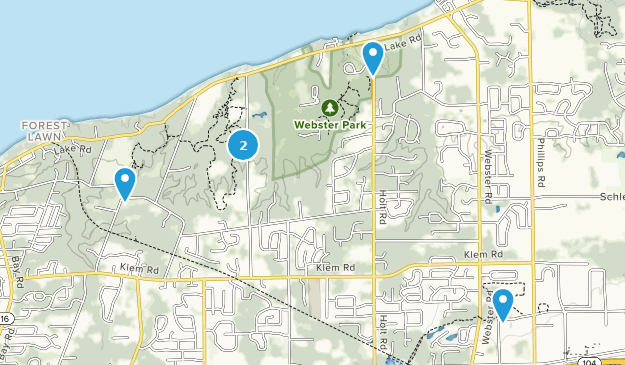 Webster Park Hiking Map