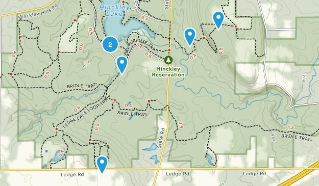Hinckley Réservation Nature Trips Map