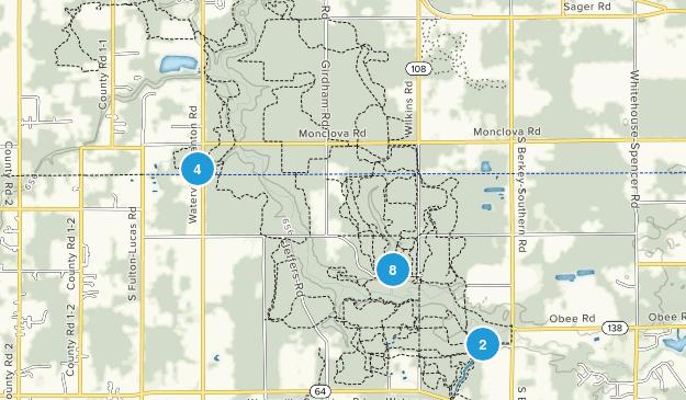 Oak Openings Preserve Metropark Hiking Map