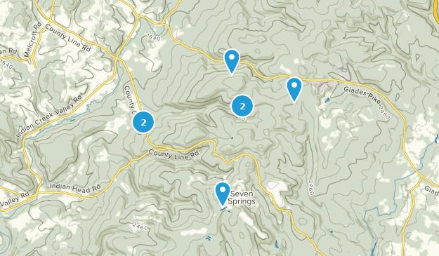 Roaring Run Natural Area Hiking Map
