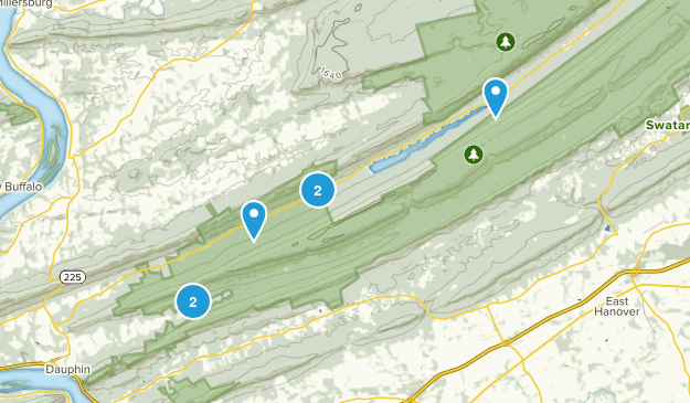 State Game Lands Number 211 Hiking Map