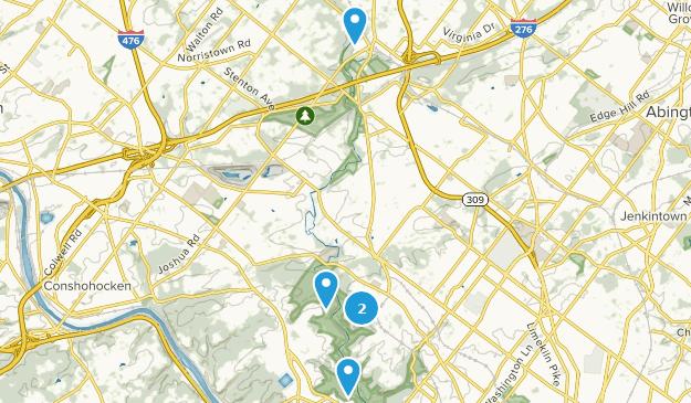 Wissahickon Valley Park Hiking Map